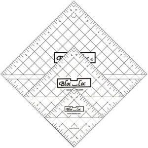 """Bloc_Loc HST  Sæt med 3 kvadrater  2½""""+4½""""+6½"""""""