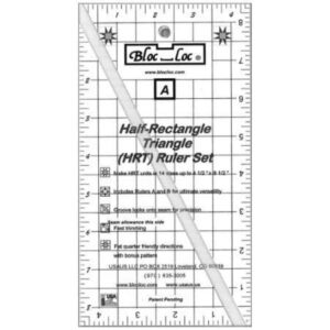 "Bloc_Loc Half rectangle triangle 8½"" x 4½"""