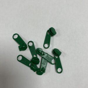 Skyder til 6 mm Lynlås 0658 Flaske Grøn