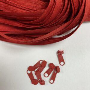 Lynlås 6 mm 0548 Rød