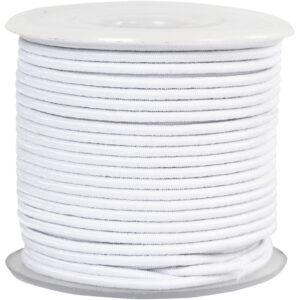 Rund 2 mm elastik – Hvid