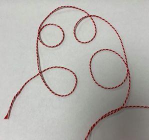 Rød/ Hvid snor